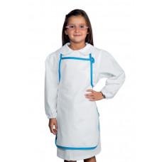 Grembiule Pettorina Baby - Cod. 000852 - Azzurro+Bianco