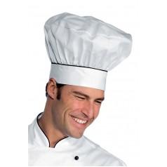 Cappello Cuoco - Cod. 075101 - Bianco+Nero