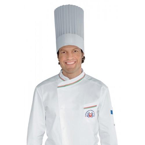 Cappello Cuoco Tnt Cm 30 (10 Pezzi) Cod. 074010 - Bianco