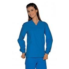 Casacca Collo A V Manica Lunga Cod. 045906 - Azzurro Ospedale