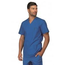 Casacca Collo A V Mezza Manica Cod. 045906M - Azzurro Ospedale