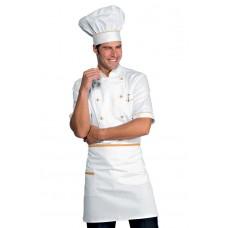 Giacca Cuoco Alicante Mezza Manica - Cod. 056813 - Bianco+Albicocca