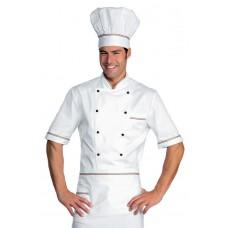 Giacca Cuoco Alicante Mezza Manica Cod. 056810 - Bianco+Italy