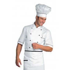Giacca Cuoco Alicante Mezza Manica - Cod. 056801 - Bianco+Nero