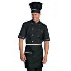 Giacca Cuoco Alicante Mezza Manica Cod. 056920 - Nero+Bianco