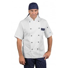 Giacca Cuoco Atlanta - Cod. 059652M - Bianco+Vienna Blu