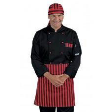 Giacca Cuoco Atlanta - Cod. 059656 - Nero+Rosso Nero