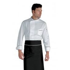 Giacca Cuoco Bilbao - Cod. 059330 - Bianco+Nero