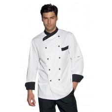 Giacca Cuoco Giza Cod. 057411 - Bianco+Nero