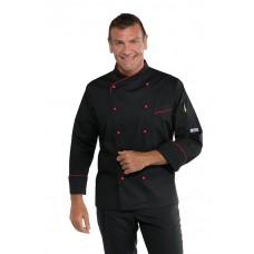 Giacca Cuoco Panama - Cod. 058207 - Nero+Rosso