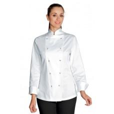 Giacca Lady Chef Bottoni A Pressione Cod. 057520 - Bianco