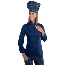 Giacca Lady Chef Bottoni Antipanico Cod. 057502 - Blu