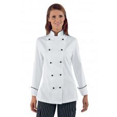 Giacca Lady Chef - Cod. 057511 - Bianco+Nero