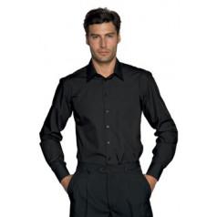 Camicia Uomo Cartagena Slim Strech Manica Lunga Nero