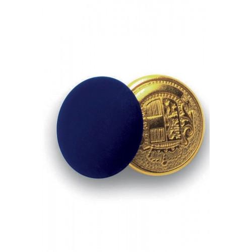 Bottoni Gemello Oro + Colore Cod. 123202 - Blu
