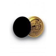 Bottoni Gemello Oro + Colore - Cod. 123201 - Nero