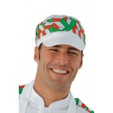 Cappello Charly Con Rete Cod. 077022 - Bianco+Italy