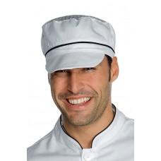 Cappello Charly Con Rete Cod. 077011 - Bianco+Nero