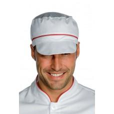 Cappello Charly Con Rete Cod. 077007 - Bianco+Rosso
