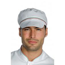 Cappello Charly Con Rete Cod. 077010 - Bianco+Tricolore