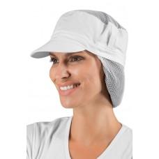 Cappello Charly Con Rete Per Capelli Cod. 077000R - Bianco