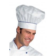 Cappello Cuoco - Cod. 075106 - Bianco+Blu Cina