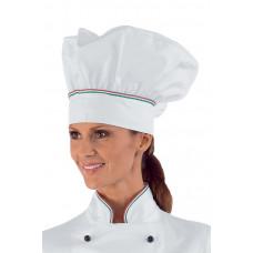 Cappello Cuoco Cod. 075010 - Bianco+Italy