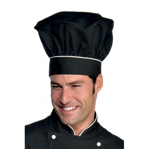 Cappello Cuoco - Cod. 075220 - Nero+Bianco