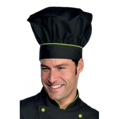 Cappello Cuoco Cod. 075226 - Nero+Verde Mela