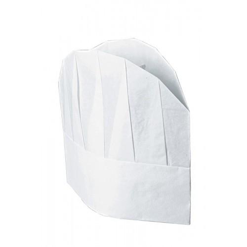 Confezione Cappello Cuoco Tnt Cm 23 (10 Pezzi) Cod. 074000 - Bianco