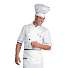 Giacca Cuoco Alicante Mezza Manica Cod. 056801 - Bianco+Nero