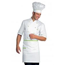 Giacca Cuoco Alicante Mezza Manica Cod. 056826 - Bianco+Verde Mela