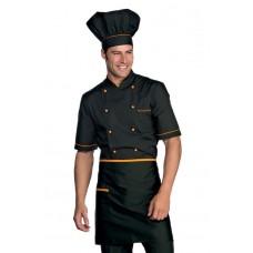 Giacca Cuoco Alicante Mezza Manica Cod. 056913 - Nero+Albicocca