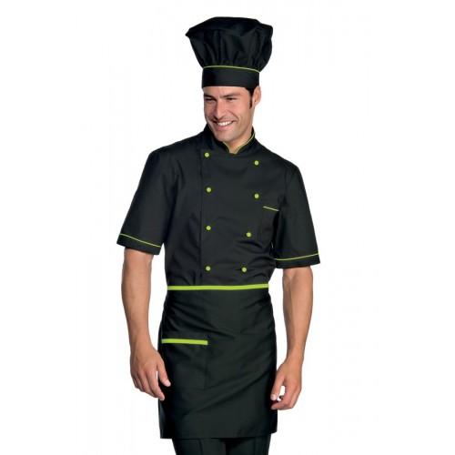 Giacca Cuoco Alicante Mezza Manica Cod. 056926 - Nero+Verde Mela
