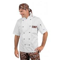Giacca Cuoco Atlanta - Cod. 059621M - Bianco+Chocolate