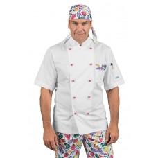 Giacca Cuoco Atlanta - Cod. 059655M - Bianco+Pepper