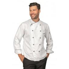 Giacca Cuoco California Cod. 058330 - Bianco+Nero