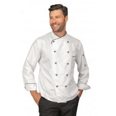 Giacca Cuoco California - Cod. 058330 - Bianco+Nero