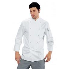 Giacca Cuoco Classica Bottoni A Pressione Cod. 057008 - Bianco