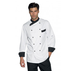 Giacca Cuoco Giza - Cod. 057411 - Bianco+Nero