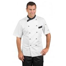 Giacca Cuoco Giza Cod. 057411M - Bianco+Nero