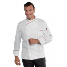 Giacca Cuoco Panama Cod. 058210 - Bianco+Italy