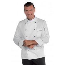 Giacca Cuoco Panama Cod. 058211 - Bianco+Nero