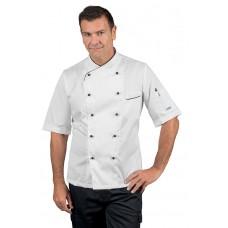 Giacca Cuoco Panama Cod. 058211M - Bianco+Nero