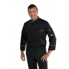 Giacca Cuoco Panama Cod. 058221 - Nero+Bianco