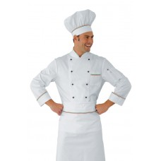 Giacca Cuoco Profilata Cod. 059000 - Bianco+Italy