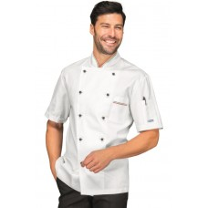 Giacca Cuoco Profilata Cod. 059000M - Bianco+Italy