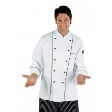 Giacca Cuoco Profilata Cod. 059100 - Bianco+Nero
