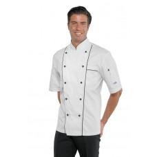 Giacca Cuoco Profilata Cod. 059100M - Bianco+Nero