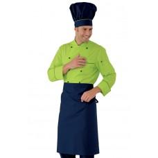 Giacca Cuoco Profilata Cod. 057026 - Blu+Verde